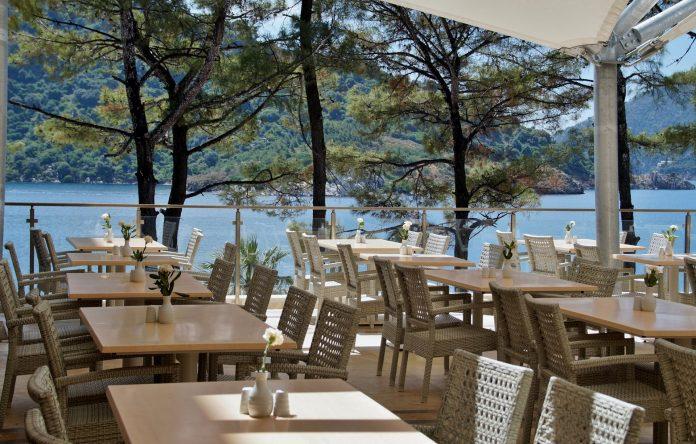 área externa em restaurantes