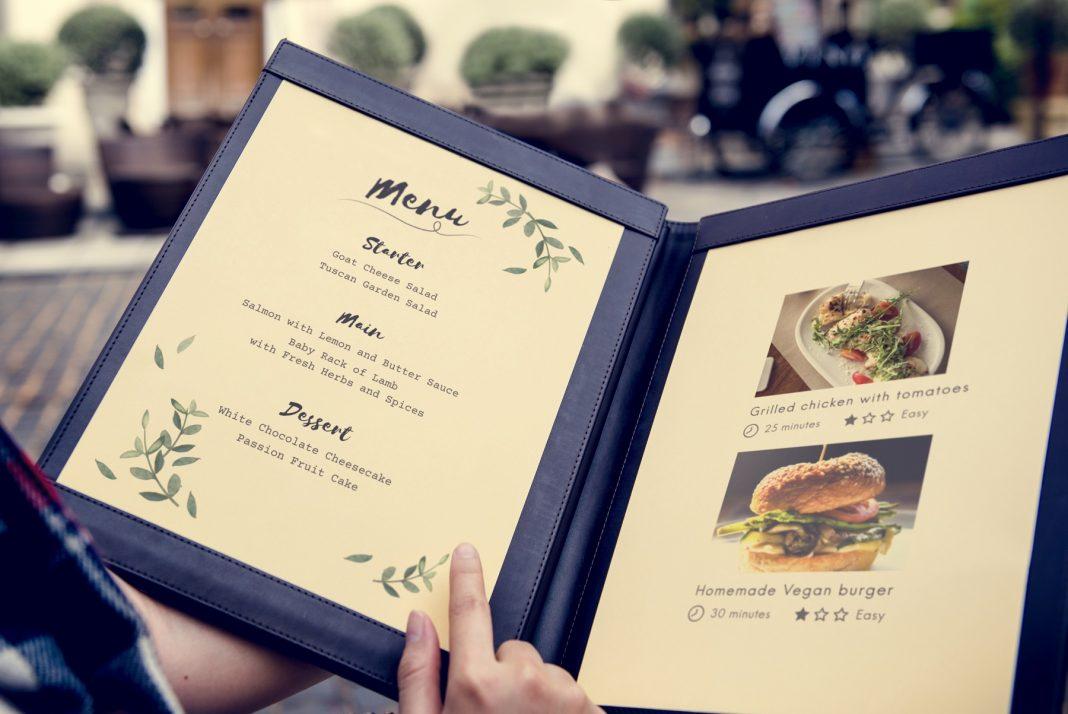 montar um menu